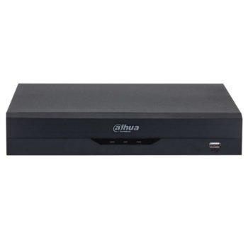 Хибриден видеорекордер Dahua XVR5104HS-I2, 4 канален, AI Coding/H.265+/H.265/H.264+/H.264, 1x SATA(до 1x 6TB), 2x USB 2.0, 1x LAN10/100, 1x HDMI, 1x VGA, 1x RS485 image