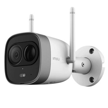 "IP камера Dahua Imou Bullet IPC-G26E, безжична, насочена ""bullet"" камера, 2MP (1920x1080@30fps), 2.8mm обектив, H.265/H.264, IR осветление (до 30m), IP67 степен на защита, LAN, Wi-Fi, microSD слот, вграден микрофон image"