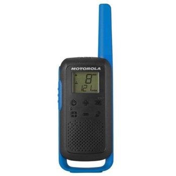 Радиостанции Motorola Talkabout T62 PMR, PMR446, 16 канала, до 8 km, лесно сдвояване, канален монитор, сини image