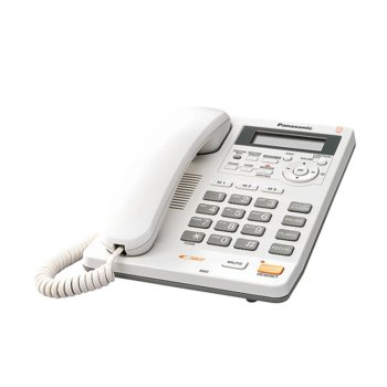 Стационарен Телефон Panasonic KX-TS620, LCD черно-бял дисплей, бял image