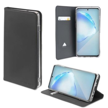 Калъф за Samsung Galaxy S20, тип портфейл, еко кожа, 4Smarts Flip URBAN Lite 4S467583, с поставка и джоб, черен image