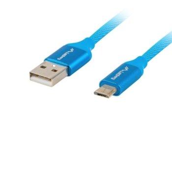 Кабел Lanberg CA-USBM-20CU-0010-BL, от USB Type A(м) към USB Micro B(м), 1m, Quick Charge 3.0, син image