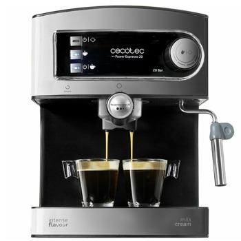 Кафемашина Cecotec 1503 Espresso 20 Tradizionale, 850W, 20 bar, капацитет на резервоара за вода 1.5л., светлинен индикатор за всяка функция, инокс image