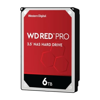 "Твърд диск 6TB Western Digital Red Pro NAS WD6003FFBX, SATA 6Gb/s, 7200 rpm, 128MB кеш, 3.5"" (8.89 cm) image"