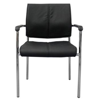 Посетителски стол RFG Sky M (ON4010100319), екокожа, 120 кг. максимално натоварване, черен image