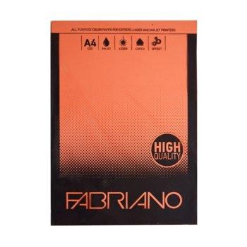 Копирен картон Fabriano, A4, 160 g/m2, портокал, 50 листа image