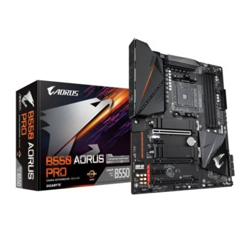 Дънна платка Gigabyte B550 AORUS PRO, AM4, B550, DDR4, PCI-E 4.0, (HDMI),(CFX), 6x SATA 6Gb/s, 2x M.2, USB Type-C, ATX image