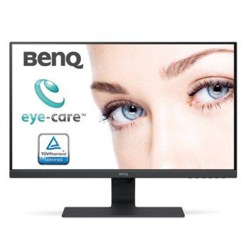 """Монитор BenQ GW2780 (9H.LGELA.TBE), 27"""" (68.58 cm) IPS панел, Full HD, 5ms, 12 000 000:1, DisplayPort, HDMI, VGA image"""