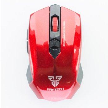 Мишка FanTech Garen WG7, безжична(2000 DPI), USB, червена, гейминг image