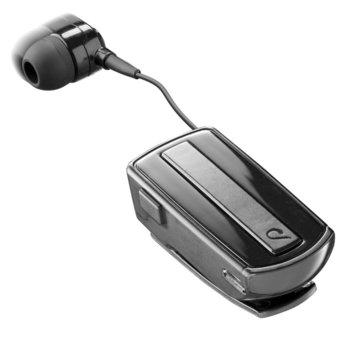 Слушалка Cellularline Roller Clip, Bluetooth, микрофон, ролетна, черна image