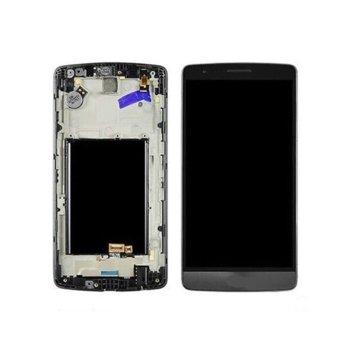 Дисплей за LG G3 D855, LCD, с тъч, с рамка, черен image