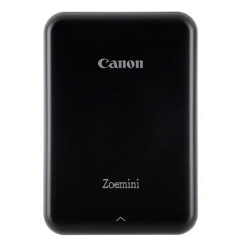 Мобилен принтер Canon Zoemini, термосублимационен, 314x400 dpi, Bluetooth 4.0, вградена презареждаема батерия(500mAh), 5x7.6cm хартия, USB, черен image