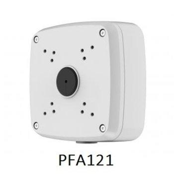 Разпределителна кутия Dahua PFA121, водоустойчива, алуминий, 134 х 134 x 42mm., до 3кг товар, за външен монтаж, бяла image