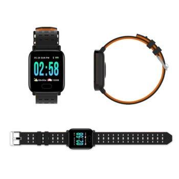 Смарт часовник A6, Bluetooth 4.0, до 10 режим на готовност, водоустойчив IP67, Android/iOS, различни цветове image