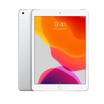"Таблет Apple iPad 7 10.2"" (MW6C2HC/A)(Silver), Wi-Fi + Cellular, LTE, 10.2"" (25.90 cm) IPS Retina дисплей, четириядрен A10 Fusion 2.34GHz, 2GB RAM, 32GB Flash памет, 8.0 & 1.2 Mpix, iPadOS, 493g image"