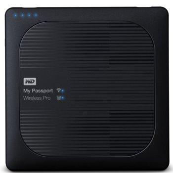 """Твърд диск 2TB WD MyPassport Pro (черен), външен, 2.5"""" (6.35 cm), USB 3.0, Wireless image"""