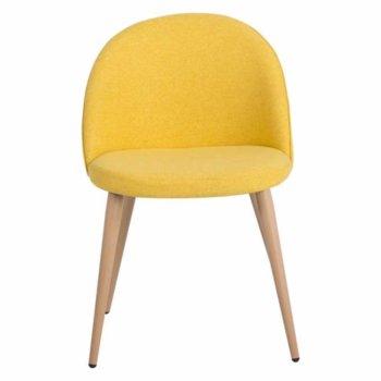Трапезен стол Carmen 514, метални крака, ярко жълт image