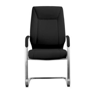 Посетителски стол RFG VINCI M, екокожа, черен, 2 броя в комплект image