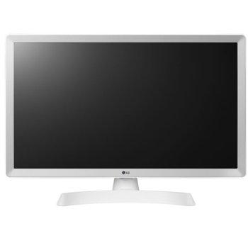 "Монитор LG 28TL510V-PZ White, 27.5"" (69.85 cm) LED non Glare панел, 5ms, 1000:1, 250 cd/m2, TV Tuner DVB-T2/C /S2, 1x HDMI, 1x USB image"