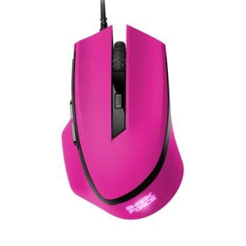 Мишка Sharkoon SHARK Force Pink, оптична (1600 dpi), 6 бутона, розова image