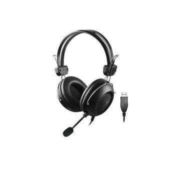 Слушалки A4Tech HU-35, микрофон, USB, черни image