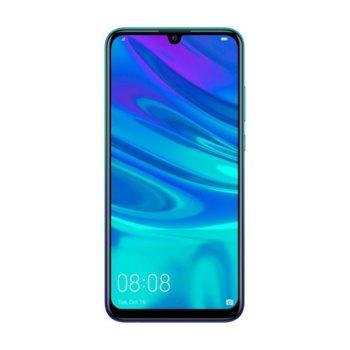 """Смартфон Huawei P Smart (2019)(син), поддържа 2 sim карти, 6.21""""(15.77 cm) IPS дисплей, осемядрен Cortex A73 2.2 GHz, 3GB RAM, 64GB Flash памет, 13 MPix + 2 MPix & 8 MPix камера, Android, 160 g image"""
