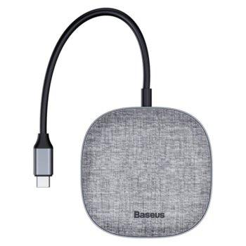 USB хъб CAHUB-DX0G, 2x USB 3.0 / 1x HDMI / SD слот, USB Type C, тъмносив image