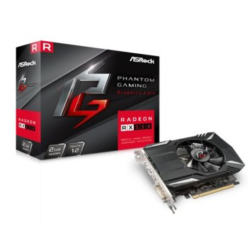 Видео карта AMD Radeon RX550, 2GB, ASRock Phantom Gaming, GDDR5, 128 bit, Display Port, HDMI, DVI image