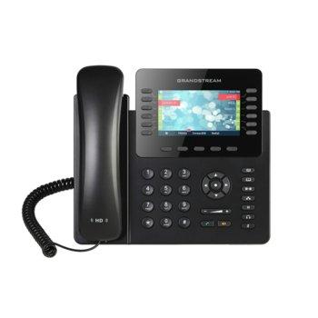 "VoIP телефон Grandstream GXP2170, 4.3"" (10.92 cm) цветен LCD дисплей, 12 линии, Bluetooth, 2x LAN10/100/1000, PoE, черен image"
