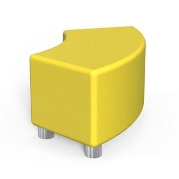 Табуретка RFG Curve, еко кожа, MDF основа, жълта image