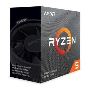 Процесор AMD Ryzen 5 3600, шестядрен (3.6/4.2GHz, 32MB,AM4) BOX, с охлаждане Wraith Stealth image