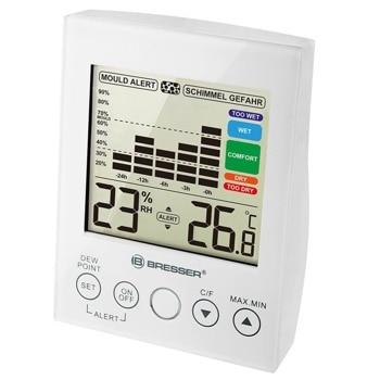 Цифров термо-хигрометър Bresser Mould Alert Hygrometer White, измерва температура и влажност, диаграма за промяната на влажността на въздуха за последните 24 часа, аларма в случай на разрастване на плесен, бял image