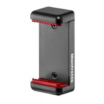 Щипка за статив Manfrotto Universal Smartphone Clamp, за телефон, макс. височина 108cm, 1 кг. товароносимост, алуминий, червен image