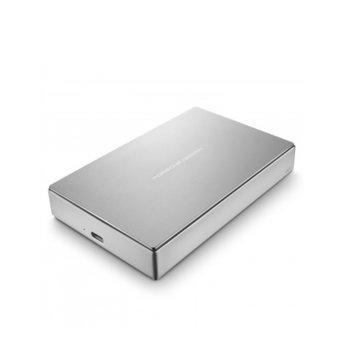 """Твърд диск 4TB, Lacie Porsche Design STFD4000400, външен 2.5"""" (6.35 cm), USB Type C, сребрист image"""