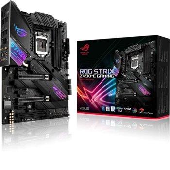 Дънна платка Asus ROG STRIX Z490-E GAMING, Z490, LGA1200, DDR4, PCI-E 3.0, (HDMI&DP), SLI&CFX, SATA 6Gb/s, 2x M.2 Socket, 4x USB 3.2 Gen 2, Wi-Fi, Bluetooth, ATX image