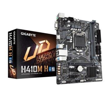 Дънна платка Gigabyte H410M H, H410, LGA1200, DDR4, PCI-E 3.0, (D-Sub&DVI-D&HDMI), 4x SATA 6Gb/s, 1x M.2, USB 3.2 Gen 1, Micro ATX image