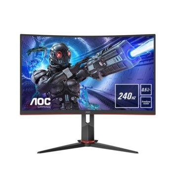 """Монитор AOC C27G2ZU/BK, 27"""" (68.58 cm) VA панел, 240 Hz, Full HD, 0.5 ms, 80000000:1, 250 cd/m2, DisplayPort, HDMI, 4x USB 3.2 image"""