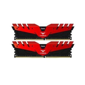 Памет 16GB(2x8GB) DDR4, 2666MHz, TeamGroup T-FORCE DARK Z Red (TDZRD416G2666HC15BDC01), 1.2V image