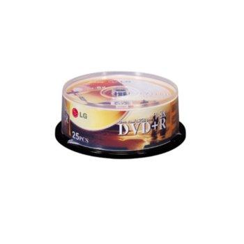 Оптичен носител DVD+R media 4.7 GB, LG, 8x, 25бр image