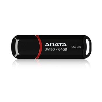 Памет 64GB USB Flash Drive, А-Data UV150, USB 3.0, черна image