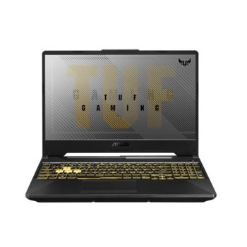"""Лаптоп Asus TUF Gaming A15 FA506IV-AL038 (90NR03L1-M06570), осемядрен AMD Ryzen 9 4900HS 3.0/4.3GHz, 15.6"""" (39.62 cm) Ful HD IPS 144Hz Anti-Glare Display & RTX 2060 6GB, (HDMI), 16GB DDR4, 1TB SSD, 1x USB 3.2 Type-C, No OS  image"""