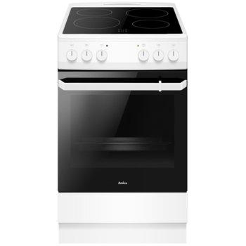Готварска печка AMICA 508CE2.20EP(W), A, 4 нагревателни зони, 62L, бял image