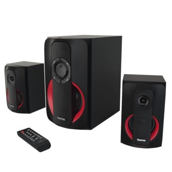 Тонколони Hama PR-2180, 2.1 80W (35W+2x22.5W) RMS, USB, Bluetooth, IR дистанционно, черни image
