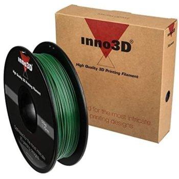 Консуматив за 3D принтер Inno3D, PLA Dark Green, 1.75mm, тъмно зелен, 500g, пакет от 5 броя image