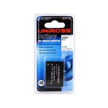 Батерия Uniross за апарат CANON NB5L, Digital Ixus 800, 850is, 900ti, Powershot SD700, SD800, SD900, 3.7V, LiIon 1000mAh, GP image