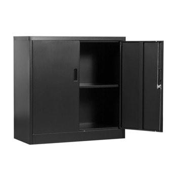 Метален шкаф Carmen CR-1233 Е SAND, 1x рафтове, прахово боядисан, метален, заключване, регулируема височина на рафтовете, черен image