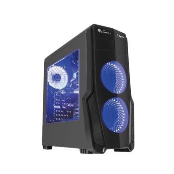 Кутия Genesis Titan 800 Blue, ATX, micro-ATX, mini-ITX, 2x USB 3.0, 2x USB 2.0, прозорец, черна, без захранване image