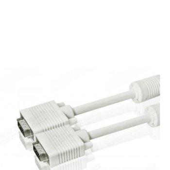 Кабел DeTech, VGA(м) към VGA(м), 1.5m, бял image