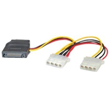 Захранващ кабел Roline 11.03.1040 1xSATA към 3x 4-pin HDD image