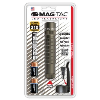 Фенер MAGTAC Plain Bezel, 2 батерии CR123, 310 lm, водоустойчивост, зелен image